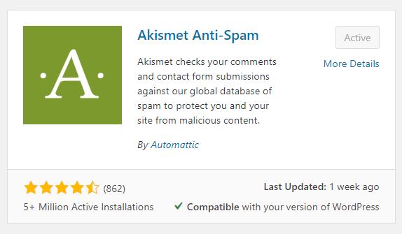 Cara Install dan Setting Plugin Aksimet Anti Spam