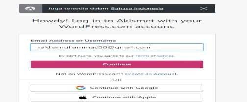 Cara Install dan Setting Plugin Aksimet Anti Spam
