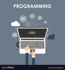 Programming and coding Royalty Free Vector Image