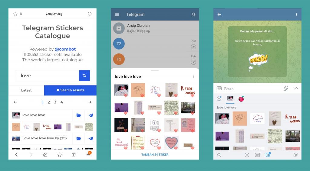 Cara Mencari Stiker di Telegram dengan Mudah