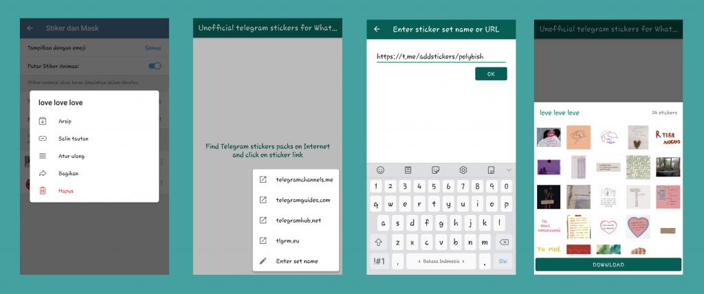 Cara Memindahkan Stiker Telegram Ke WhatsApp dengan App
