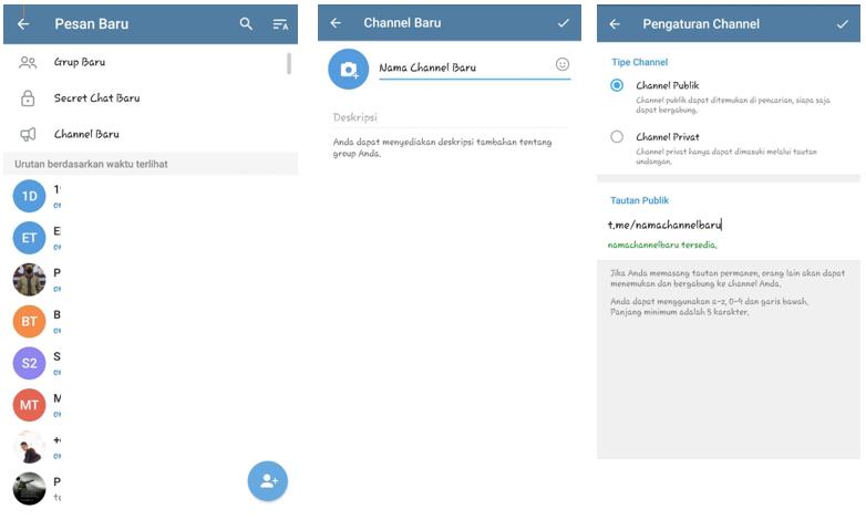 Cara Membuat Channel Telegram Terbaru Lengkap dengan Pengaturannya
