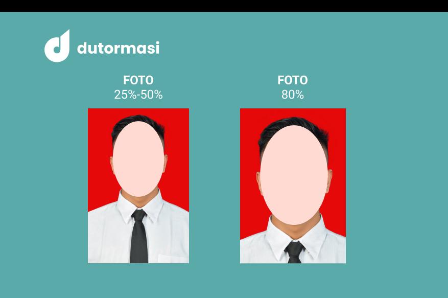 Persentase atau Proporsi Wajah 25%, 50% dan 80% pada Pas Foto